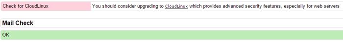رفع خطا Check for CloudLinux در csf